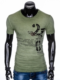 Футболка Ombre OMBRE T-SHIRT S893 - OLIVE