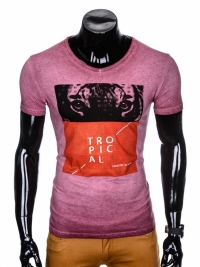 Футболка Ombre OMBRE T-SHIRT S889 - DARK RED