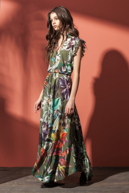 Платье Nova Line 5861-Р цветы