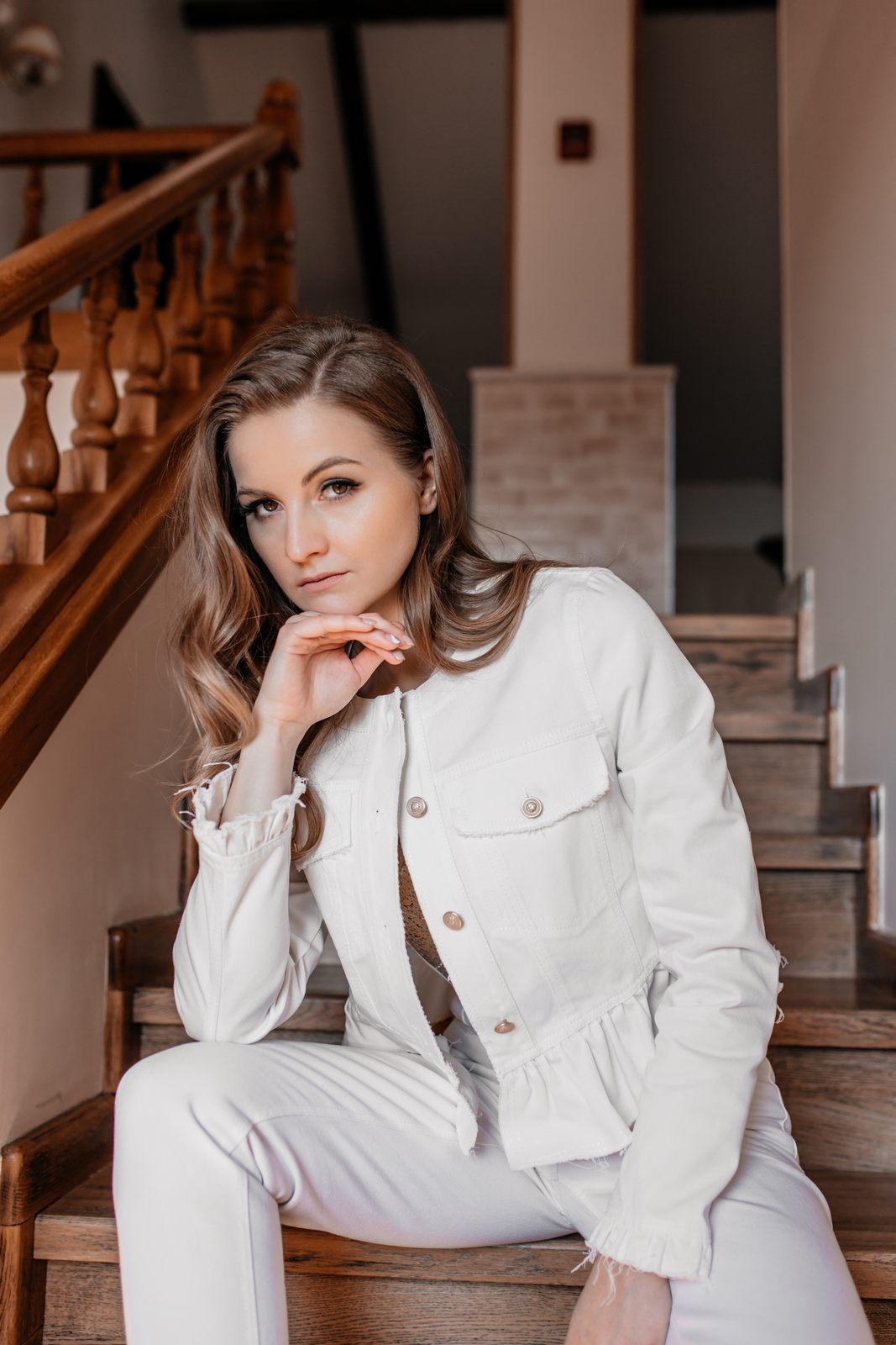 Куртка Nova Line 1884-Р джинс белый