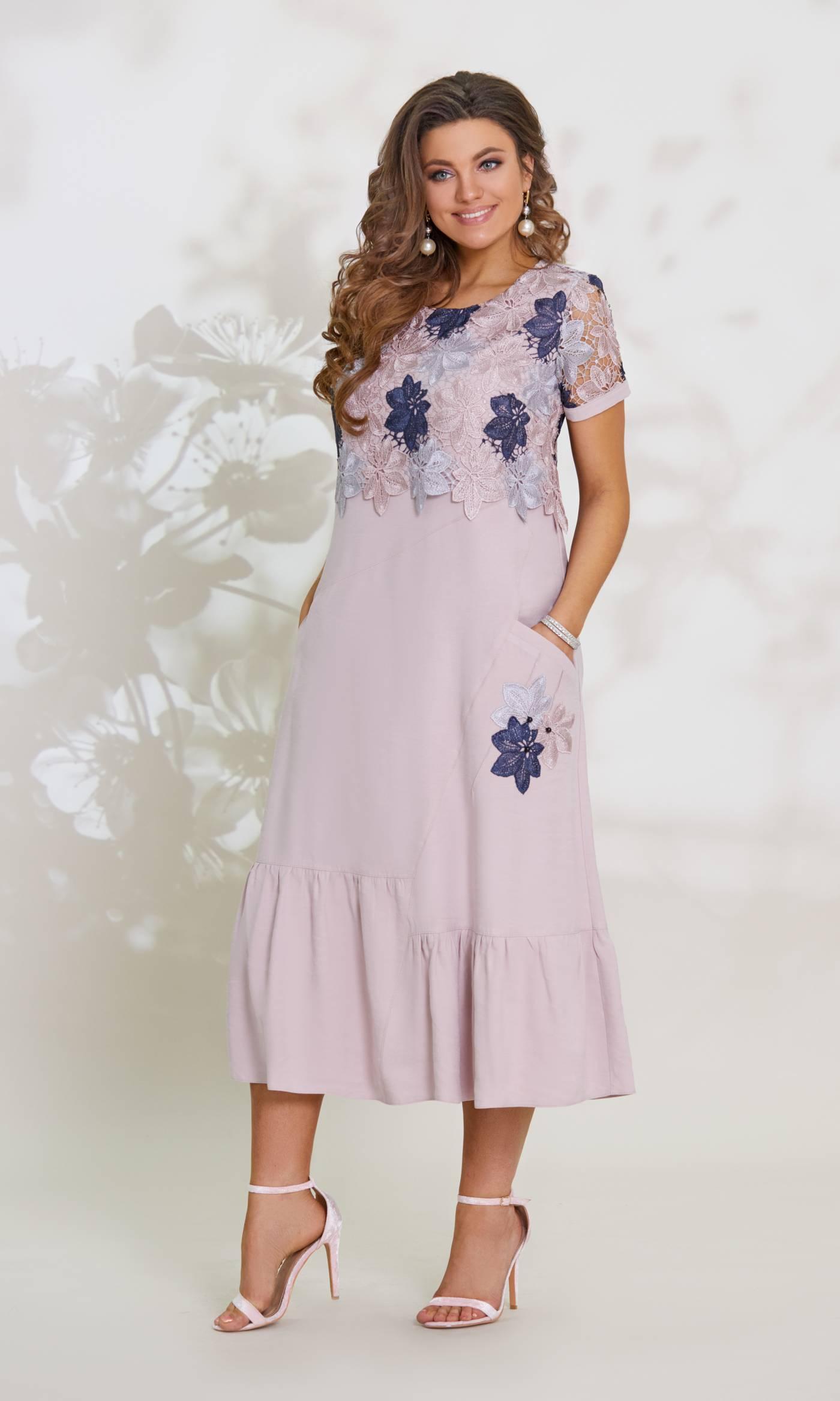 Платье Vittoria Queen 6023-Р пудра