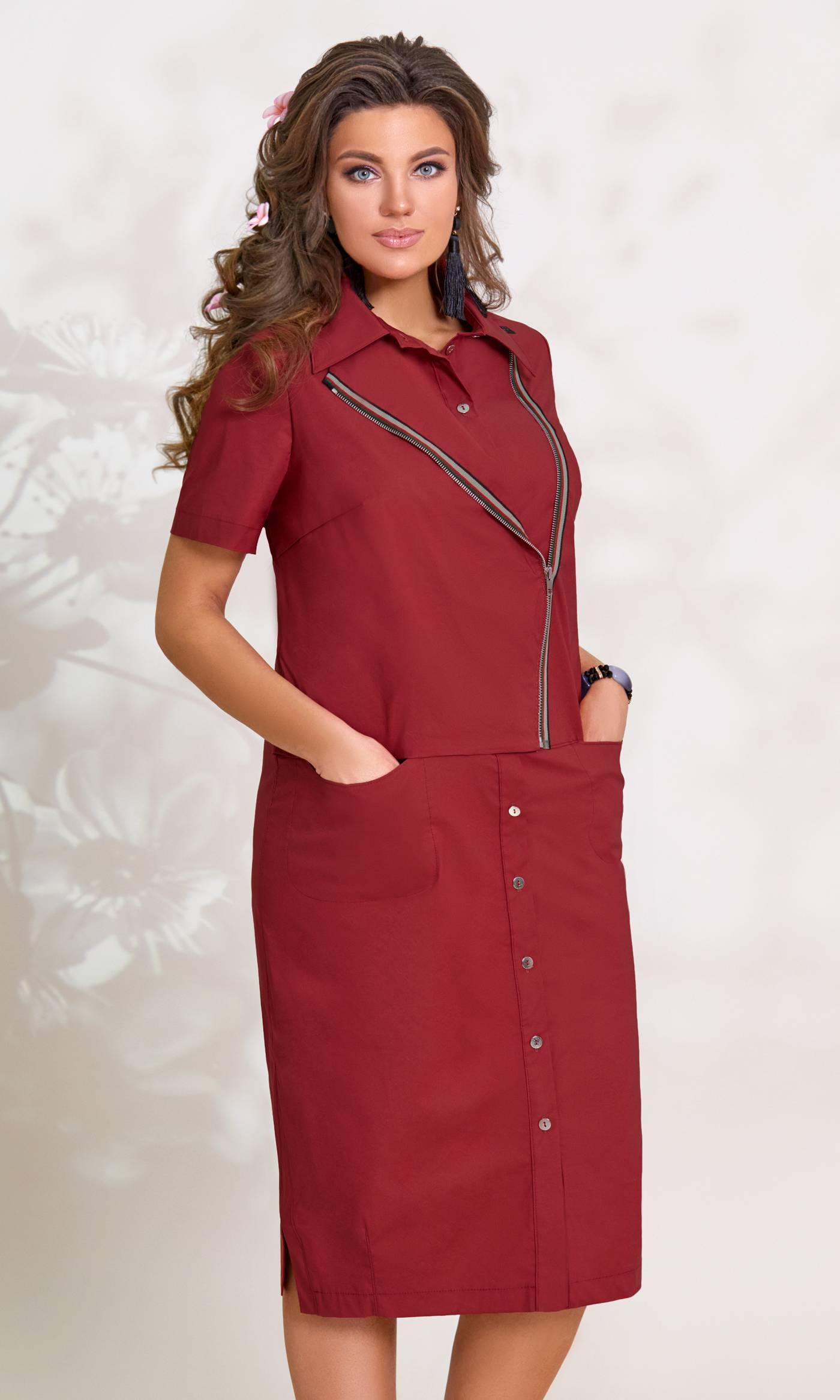 Платье Vittoria Queen 7773-Р бордо