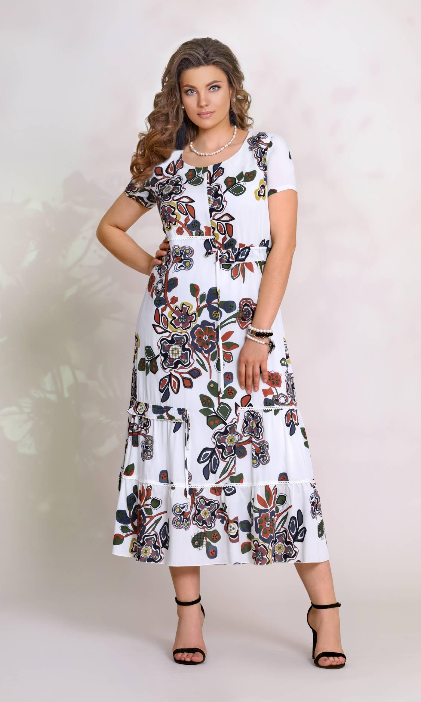 Платье Vittoria Queen 8163-Р белый