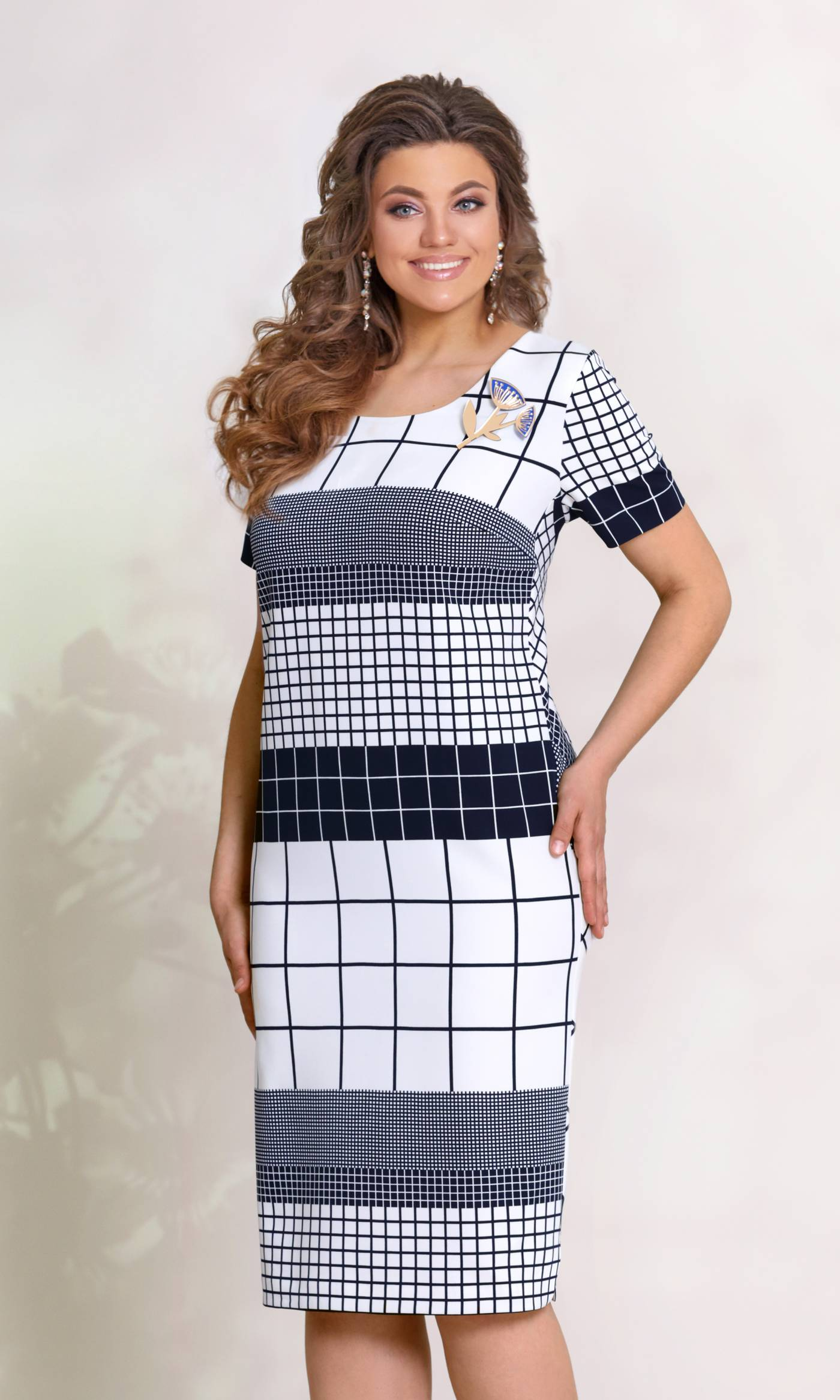 Платье Vittoria Queen 8433-Р геометрический принт