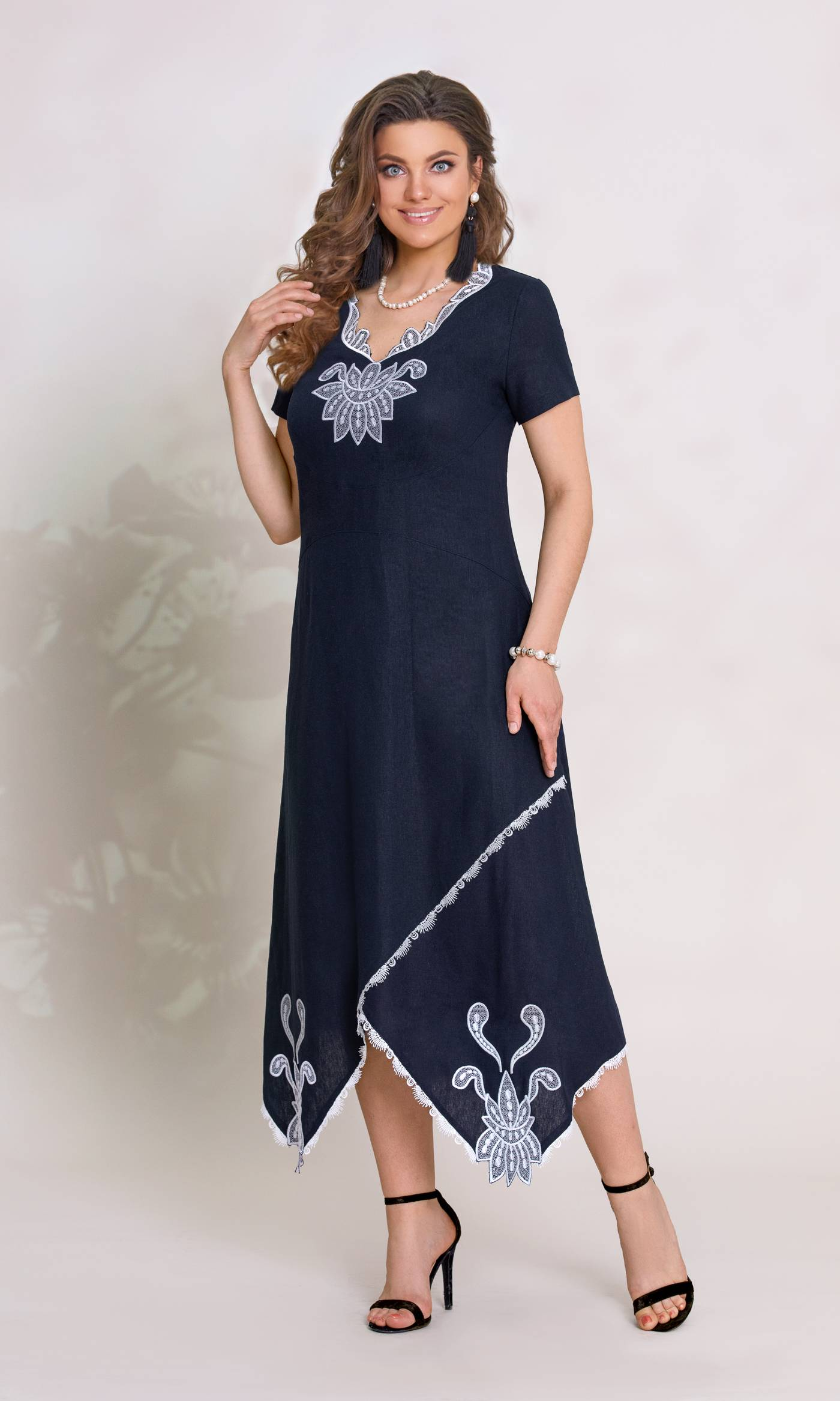 Платье Vittoria Queen 8073-Р синий