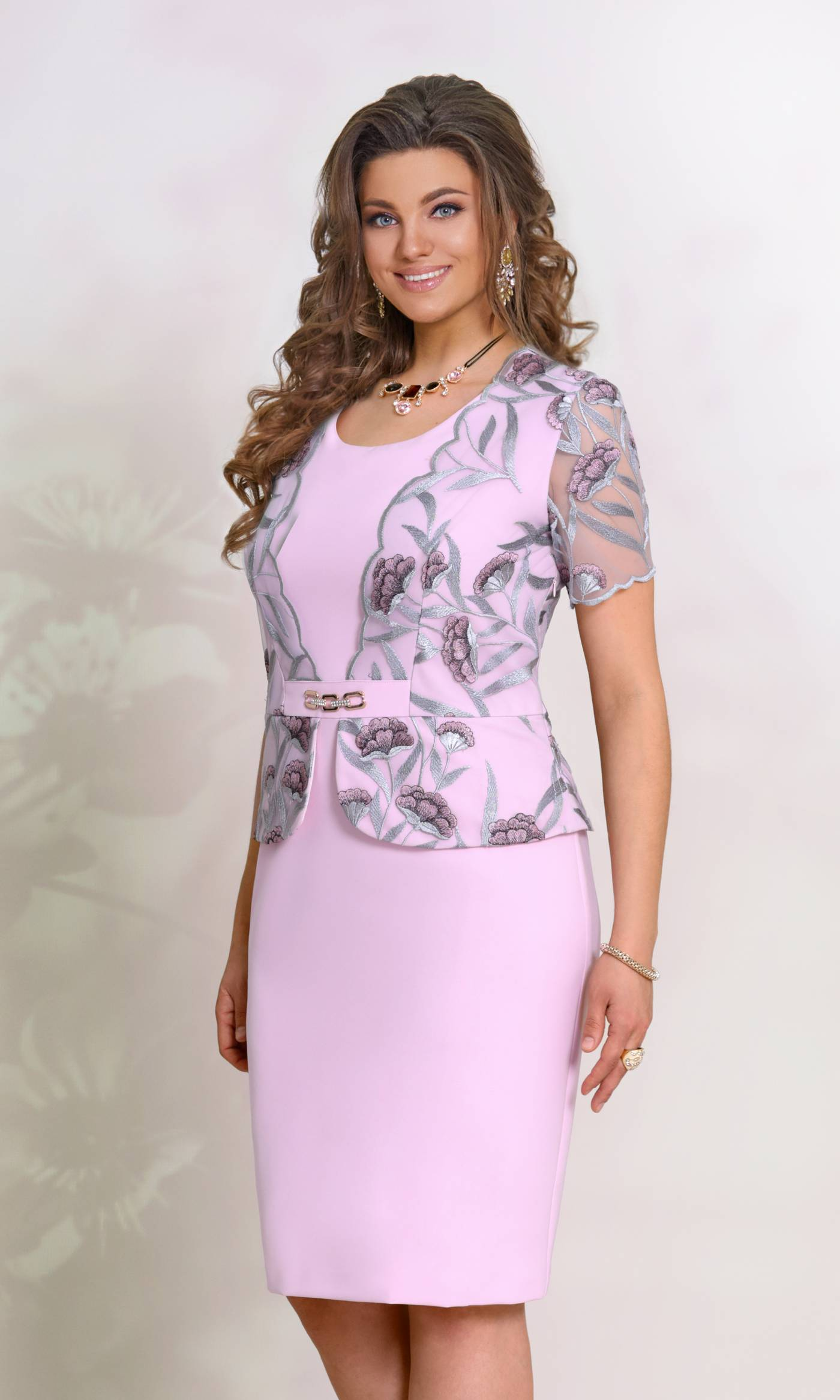 Платье Vittoria Queen 8353-Р розово-лиловый